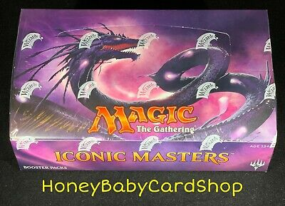 MTG Iconic Masters English Booster Box - Factory Sealed Free Priority Shipping
