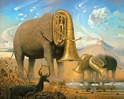 The Elephants by Salvador Dali - Van-Go Paint-By-Number Kit