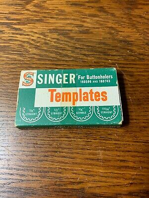 Vintage Singer Sewing Machine Buttonhole Templates for #160506 & 160743 Machine