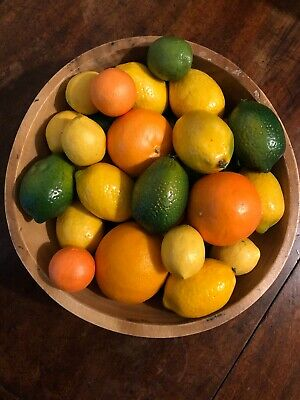 Bundle Of Life Like Artificial Fruit, Lemons, Limes, Oranges (Bowl Not Included)