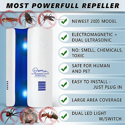 2019 Ultrasonic Pest Repeller Electronic Control Defender, Mouse Reject, Plug in