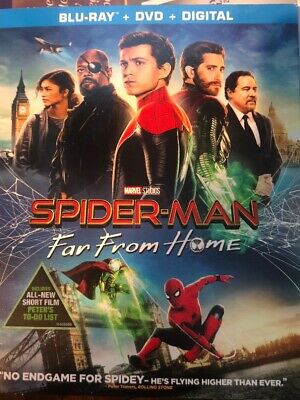 NEW Spider-Man Far From Home, 2019 (Blu-Ray + DVD + Digital) FREE SHIPPING