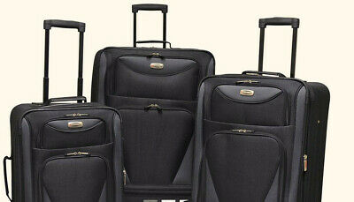 Travelers Club Sky-View 2.0 3-Pc. Expandable Spinner Luggage Set - Black