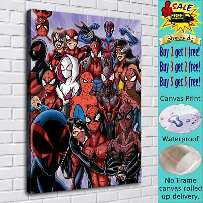 """16""""x22""""Spiderman HD Canvas prints Painting Home Decor Picture Room Wall art"""