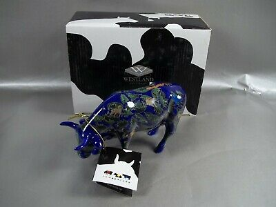 Pre Owned 2002 Westland Cow Parade For Every New Year #9184 W/Box Displayed