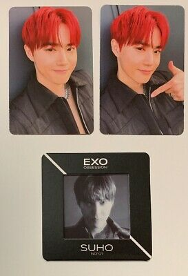 SUHO SET 3: 1 Slide +2 PHOTOCARDS EXO VERSION OBSESSION 6th Album Official X-exo