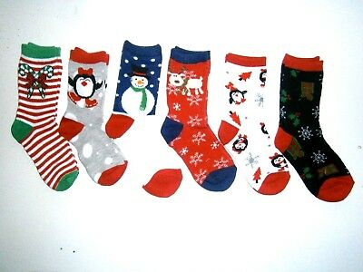 m  CHRISTMAS NOVELTY SOCKS  LOT  FITS KIDS TO TEENS GREAT STOCKING FILLERS..