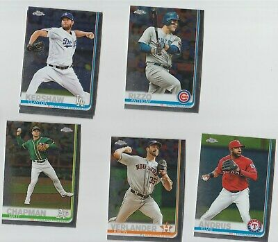2019 Topps Chrome Base Cards #1 To #200 U-Pick Complete Your Set