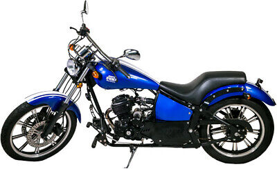 Malibu 125ccm Rock'nBikes Chopper Motorrad Royal Blue Custom Bike Razory