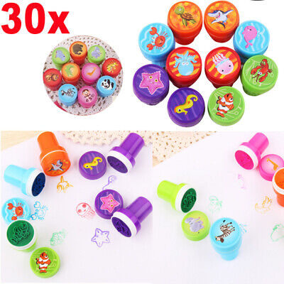 30pcs 3 Styles Plastic Stamps Set Dinosaur Sea Ocean Farm Animal for Kid Toddler