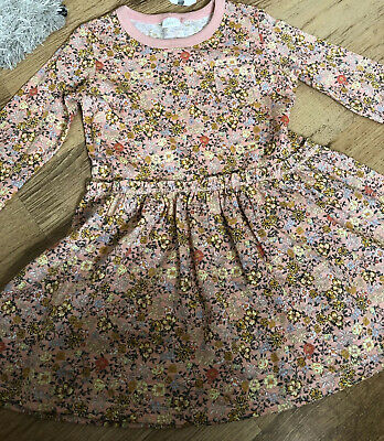 BNWT Girls Next Pink Floral Dress age 2-3 Years