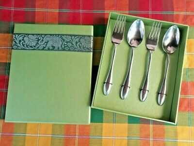 Cutlery Set Forks Spoons in Box Kitchen Dining Kitchen Tableware Stainless Steel