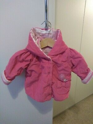 Girls PINK Winter Coat 0-3 months M&S CORDUROY light and cosy