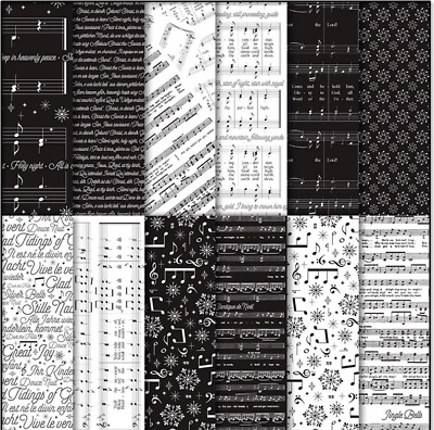 """Stampin' Up! Merry Music Specialty Designer Series Paper - 12 Sheets 6"""" x 6"""""""