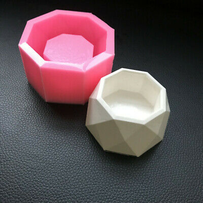 Small Cactus Pot Molds Handmade Cement Concrete Flower Pot Making Silicone Mould