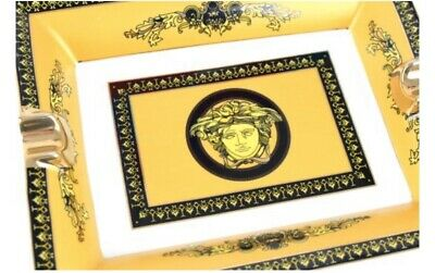 VERSACE  Yellow & Gold CIGAR ASHTRAY   EXCELLENT CONDITION