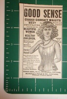 1888 Ferris Bros. Patent Corsets Advertisement Broadway, New York