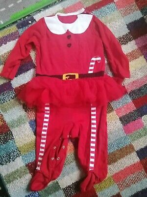 Baby Girls Christmas Santa Tutu Outfit All In One NEXT 12-18 Months