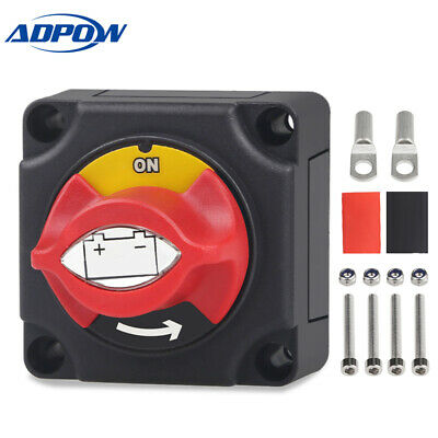 ADPOW Marine Boat Car Battery Isolator Switch Cut Off Disconnect Terminal 12V