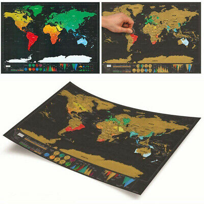 World Map Deluxe Scratch Off Poster Journal Log Giant Map Of The World Gift