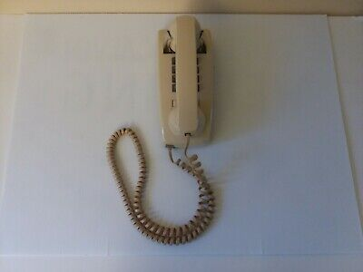 Vtg Cortelco Touch Tone Wall Mount phone Beige Model 255409-VBA-20M Tested!