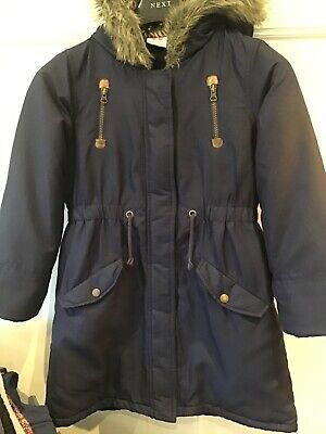 John Lewis navy blue girls very warm parka coat age 11 years