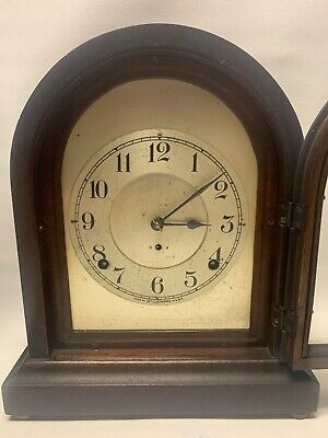 Rare Antique Seth Thomas Arch Top Mantel Clock - Early Brass Movement