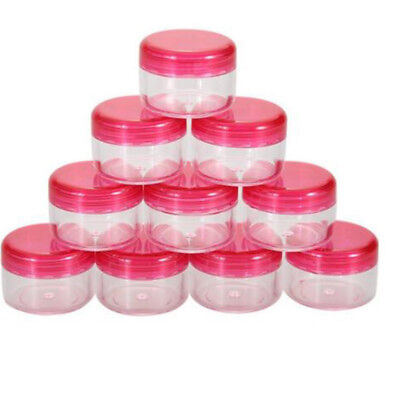 10Pcs 5g/ml Cosmetic Empty Jar Pot Eyeshadow Makeup Face Cream Container d