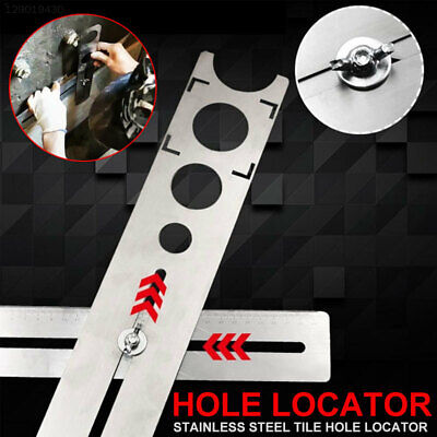 1697 Stainless Steel Tile Hole Locator Auxiliary Tool Adjustable Practical