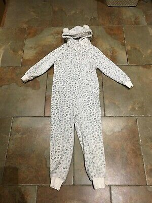 Next All In One Suit Kids Age 9 White With Grey Spots