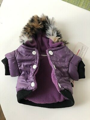 Winter Dog Coats Pet Cat Puppy Chihuahua Clothes Hoodie Warm for Small Dog Xs