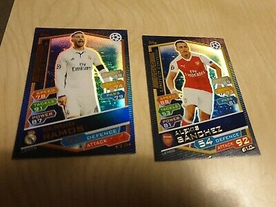 2x Topps UEFA Champions Match Attax Cards Joblot Gold Bronze limited Edition