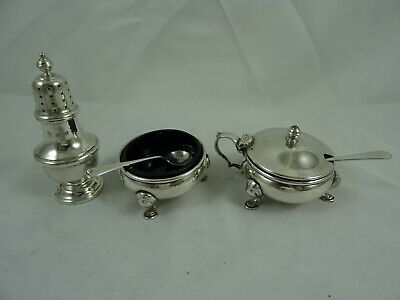 SMART solid silver  CONDIMENT SET , 1961