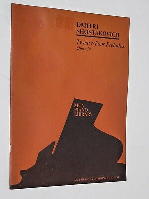 34 Sheet Music NEW 050484224 24 Preludes for Piano Op