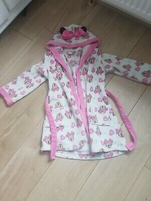 Girls Minnie Mouse dressing Gown Age 5-6