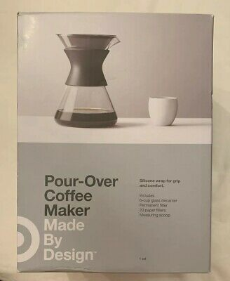 Pour Over Glass Coffee Maker, 6 Cup - Made By Design