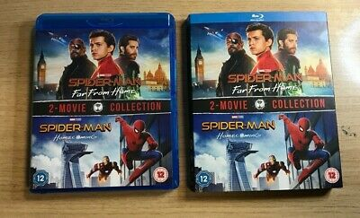 Blu Ray & SLIP CASE - SPIDER MAN: HOMECOMING & FAR FROM HOME