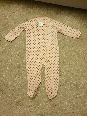 NWT NEXT 2-3 Years Pink With Brown Spots all in one - zip with press stud  98cm