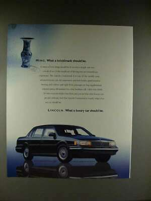 1989 Lincoln Continental Car Ad - Ming Knickknack