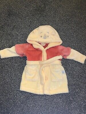 Winnie The Pooh Dressing Gown 3-6 Months New Without Tags