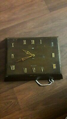 Vintage Smith Sectric Wall Clock Electric Operated -  Untested -