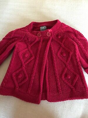 Baby Gap Girls Infant 6-12 mo Red Sweater