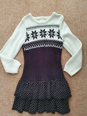 Gymboree Girls Christmas Dress Fairisle Age 6 Bought In Usa Excellent Condition
