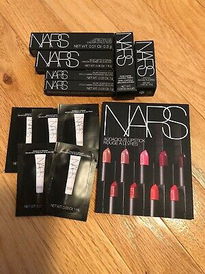NARS 12x DELUXE MAKEUP SAMPLE SET PRIMER LIPSTICK LIP CRAYON SHADOW STICK MORE
