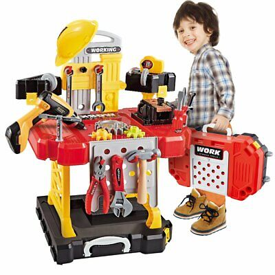 Toy Tool 100 Pieces Kids Construction Toys Workbench for Toddlers Kids Workbench