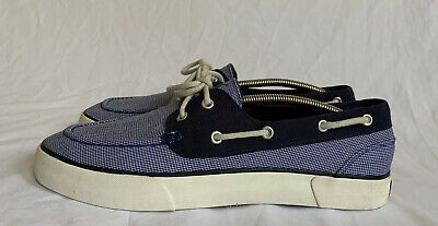 "POLO RALPH LAUREN /""LANDER/"" MEN/'S NAVY MINI GINGHAM CHECK FASHION SNEAKERS SHOES"