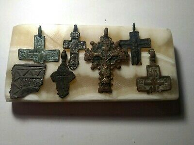 Lot. ancient broken and whole crosses