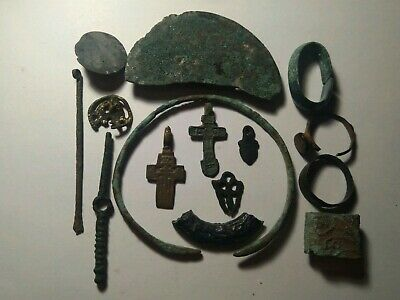 Ancient viking. Whole and broken ring bracelets.