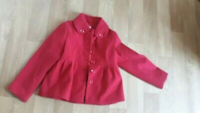 NEXT GIRLS  Red SIGNATURE WINTER WOOL MIX COAT  JACKET AGE 7,-8 YEARS