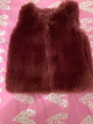 Girls Next Faux Fur Gilet Size 3-4